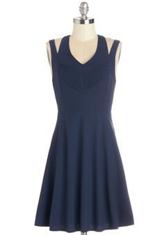 Cutout for Cool Dress. Youll naturally feel like the coolest gall on the block when you step out in this sassy navy tank dress! #blue #modcloth
