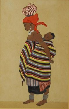 View Baca woman, natal, South Africa by Barbara Eleanor Harcourt Tyrrell on artnet. Browse upcoming and past auction lots by Barbara Eleanor Harcourt Tyrrell. African Women, African Art, Xhosa, Black Women Art, African Culture, Public Art, Female Art, South Africa, Sketches