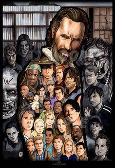 Walking Dead Season 5 characters.