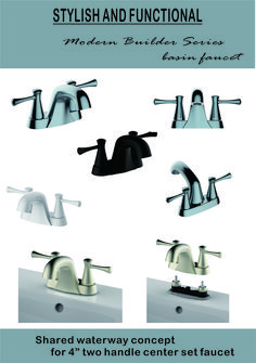 Shared waterway concept for two handle center set faucet Lavatory Faucet, Basin, Handle, Concept, Stylish, Modern, Trendy Tree, Door Knob