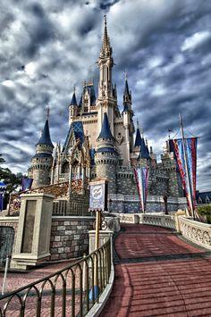 Orlando, Florida – Cinderella's Castle, Disney World (HDR) - Talke Photography Disney Vacations, Disney Trips, Disney Parks, Walt Disney World, Orlando Disney, Disney World Castle, Disney Disney, Family Vacations, Cruise Vacation