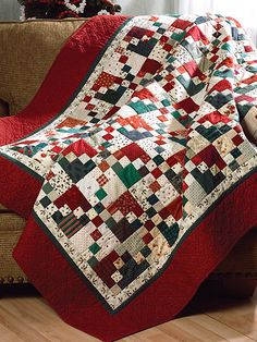Scrappy Christmas Quilt                                                                                                                                                                                 More