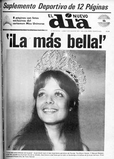 El 11 de julio de 1970, Marisol Malaret se convirtió en la primera puertorriqueña en ganar la corona de Miss Universe ...On July 11, 1970, Marisol Malaret became the first Puerto Rican to win the crown of Miss Universe