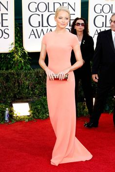 In Calvin Klein at the 68th Annual Golden Globe Awards.   - ELLE.com