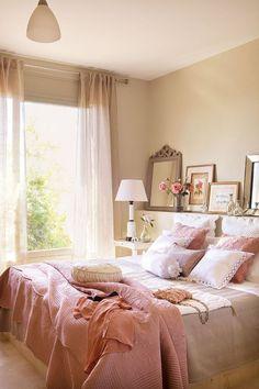 Increíble habitación en tonos rosados