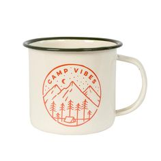 Camp Vibes emaille mug by Poler Stuff // Outdoor wishlist for the happy camper. Let's go glamping!