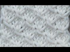 knitting patterns Herringbone stitch pattern Le point de chevron Вязать узор Ёлочка - YouTube