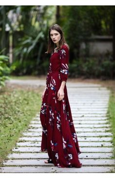 04a2f6d757 Keep Swinging Floral Maxi Dress - Dress - Retro