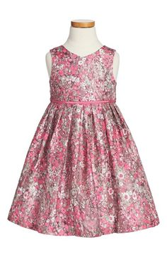 Free shipping and returns on Pippa & Julie Flower Print Shantung Dress (Toddler Girls, Little Girls & Big Girls) at Nordstrom.com. She'll be ready for afternoon tea in this lovely party dress cut from shimmery floral-print shantung and featuring a full, twirly skirt.