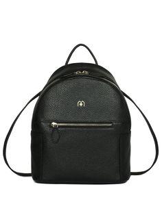 #AdoreWe Martin Ma Casual Zipper Solid Full-grain Cowhide Leather Backpack - AdoreWe.com
