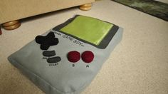 Gameboy pillow.
