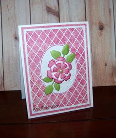 Ann Greenspan's Crafts: Ecstasy Crafts:  Trellis Flower