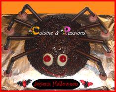 Gâteau Araignée géante pour Halloween - Cuisine et passions