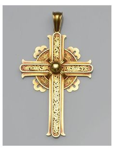 A Victorian gold cross pendant. © Bonhams 2001-2013