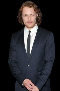 Sam Heughan in character as himself...still gorgeous!