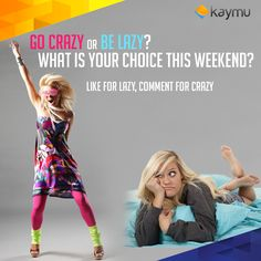 TGIF !! What do you plan to do on the weekend ? Party like crazy or have a lazy lie in ?