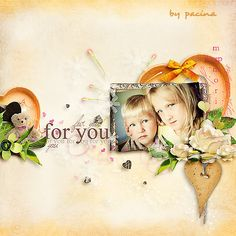 "Digitalscrapbookingstudio.com-layout using kit ""Love> by Laura's Digi World.  #digiscrap #theStudio"
