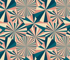 Spoon flower.com create custom fabric, wallpaper and more. Love the colors in the retro fabric by kociara http://kociara.com