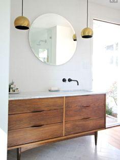 mid century modern - bathroom
