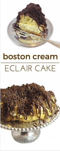 Boston Cream Eclair Cake: you just gotta love Boston! Delicious pastry cake, surprisingly simple to make.