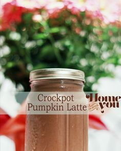 Crockpot Pumpkin Latte Recipe #PinAtoZ