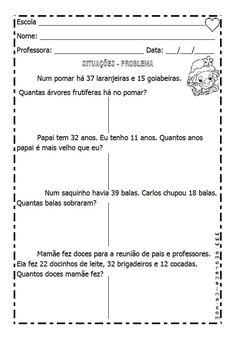 Alfabetizar com AMOR: SITUAÇÕES - PROBLEMAS / 2º ANO