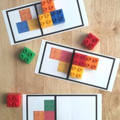 Great way to use Lego for a Montessori matching activity :) Symmetry Activities, Toddler Learning Activities, Montessori Activities, Stem Activities, Preschool Activities, Kids Learning, Dinosaur Activities, Family Activities, Cool Lego