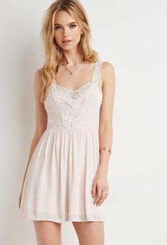 Crochet Mesh-Paneled Dress | Forever 21 - 2000154722