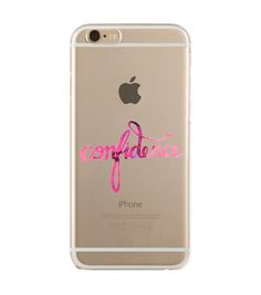 'Confidence in pink' transparent case