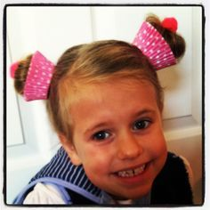 Gracie had Crazy hair day at school today! We made cupcakes, of course! #withacherryontop