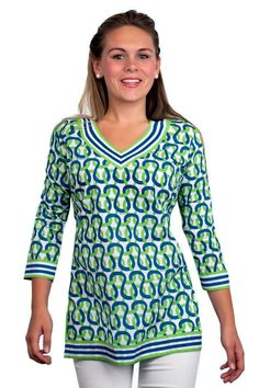 Classic V-Neck Hand Printed Tunics Bought this/love it!