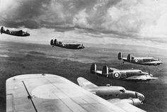 """retrowar: """" Lockheed Hudsons """" Formation flight Sunday reblog."""
