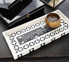 Trays, Wooden Trays & Decorative Trays   Pottery Barn