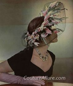 Vintage Hat - 1948  Couture Allure Vintage Fashion
