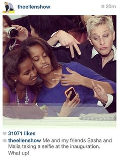 Ellen and the First Daughters
