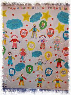 Η 20η Νοεμβρίου εορτάζεται ως η Παγκόσμια Ημέρα Δικαιωμάτων του Παιδιού και η ημέρα κατά την οποία ο ΟΗΕ κατοχύρωσε την Σύμβαση για τα Δικ... 5th Grades, Preschool, Kids Rugs, Peace, Ornaments, Projects, Blog, Life, Log Projects