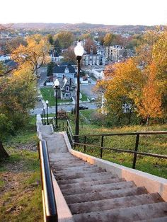Quincy Hill stairs, Parkersburg, WV.  I walked these daily when in Junior High.