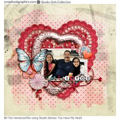 digital layout by Flor using Studio Stories: You have my Heart by scrapbookgraphics designers