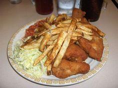 Barberton Chicken dinner. The BEST chicken, cole slaw & hot sauce!