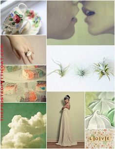 Mint spring wedding love!!! I'm in love with the palette of soft romantic green pink purple decoration, great for vintage themed wedding