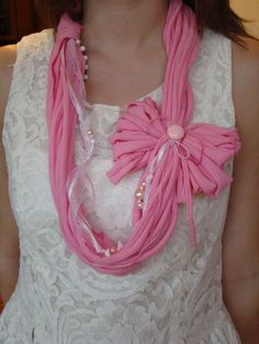 TShirt Necklace Pink by AtticGlitz on Etsy, $20.00
