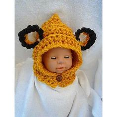 FREE CROCHET PATTERN, Newborn to 3 months size onlyVIDEO DEMO ALSO included.Pattern is only in size Newborn to 3 monthsTo purchase this patterns in all sizes from Newborn to Adult, see this link: http://www.ravelry.com/patterns/library/887-fox-hood