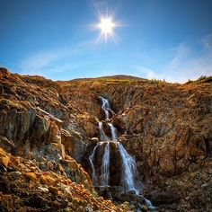 Waterfall, Tablelands Gros Morne National Park, Newfoundland, Canada