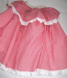 jupon. jupon rouge checker. jupe de danse carrée. par vintagous