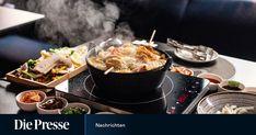 Testessen: Es dampft im Shabu Shabu Ravioli Sauce, Kimchi, Fondue, Shabu Shabu, Deep Fried Tofu, Cucumber Salad, Deep Frying, Fishcake, Beef