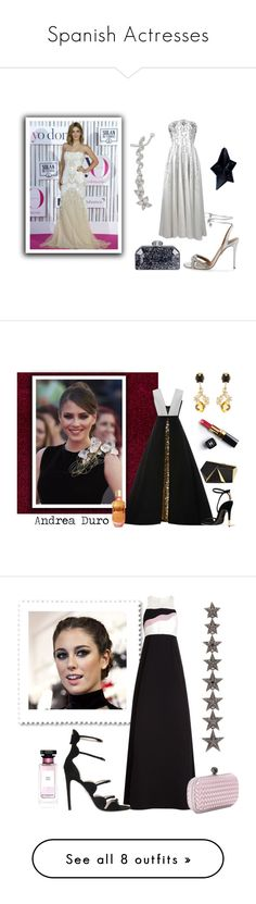 """""""Spanish Actresses"""" by romaosorno ❤ liked on Polyvore featuring Aquazzura, Judith Leiber, STONE, Thierry Mugler, Elizabeth Kennedy, Tom Ford, Rafe, Marni, Givenchy and Chanel"""