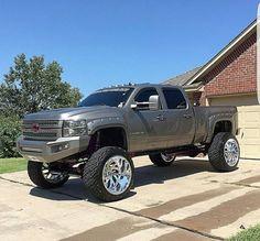 jacked up trucks chevy Chevy Duramax, Chevy Diesel Trucks, Lifted Chevy Trucks, Dodge Trucks, Jeep Truck, Chevrolet Trucks, Powerstroke Diesel, Chevy 4x4, Chevy Pickups