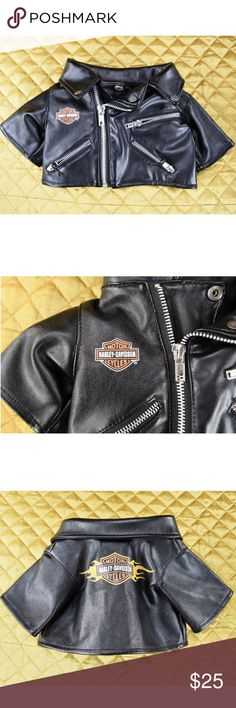 "Harley Davidson Infant Baby Faux Leather Jacket 3+ This is an adorable authentic Harley Davidson jacket for infants! ❤️❤️ The size says for ages 3 & up - about 6.5"" long. A small 3 month would fit this. Probably a 1-2 month old as well it's pretty tiny! This is in like new condition.   🌟🌟 If you appreciate old school quality - you're in the right place. We don't just sell items, we put time & work into them. We also ship FAST, within 1-2 business days at MOST! Thanks for visiting my…"