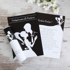 Eleganckie podziękowanie dla rodziców zapakowane w elegancką tubę z nadrukiem. #kolekcjaslubna #slub #wesele #dekoracjeslubne #podziekowaniadlagosci #ślub #wedding #wesele #love #slub #pannamloda  #bride #slubnaglowie #pannamłoda #miłość #weddingday #sesjaslubna #weddinginspiration #slubneinspiracje Cards Against Humanity