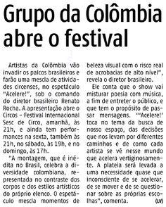 Jornal Agora em Acelere! abre Festival Circos 27-5 Agora 6